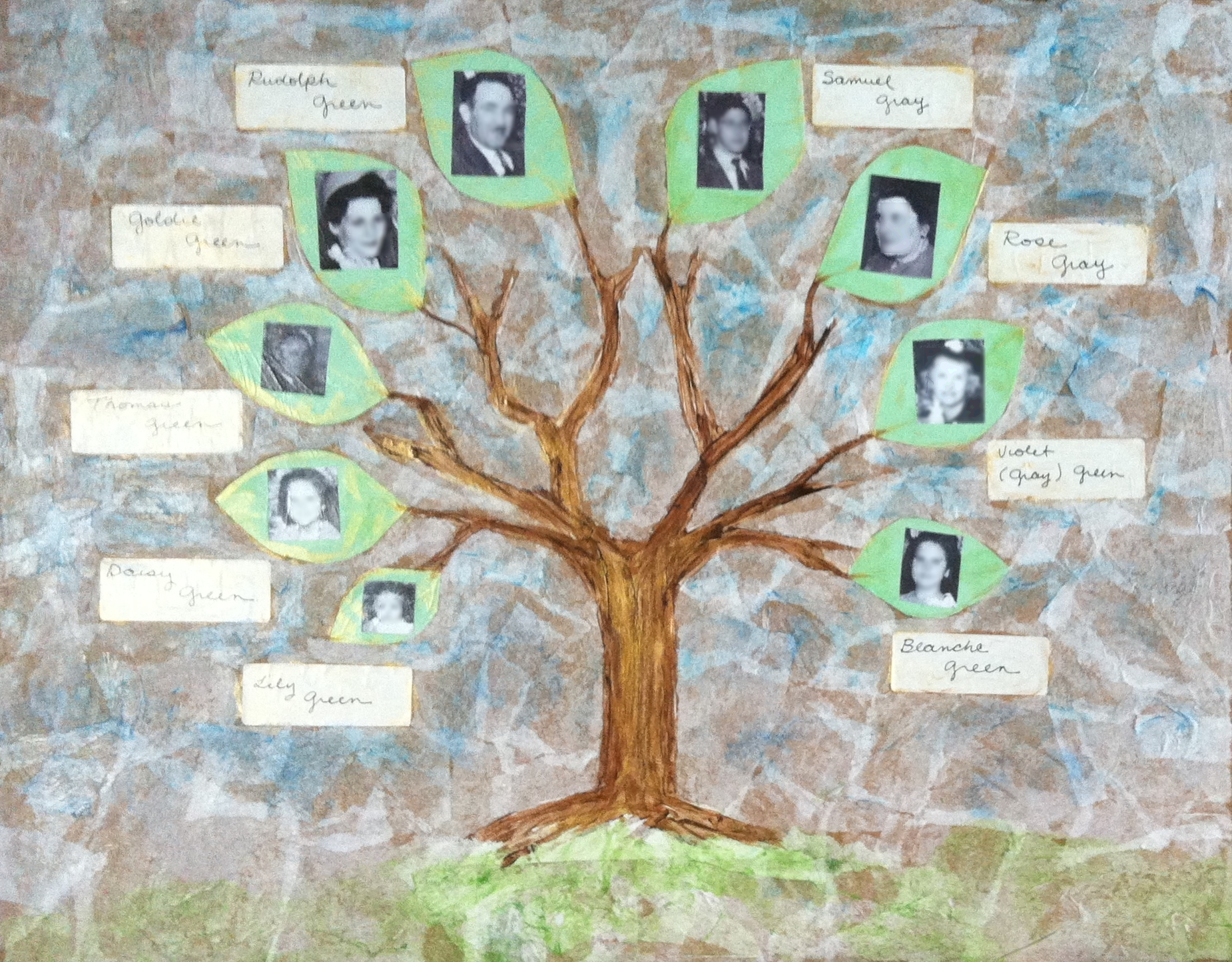 Illustrated Family Tree (Sample) – Memory Imprints