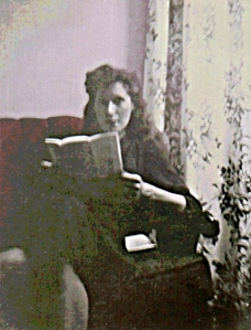 Mom Reading a Letter (Posterized and Rescued Snapshot) - Version 2