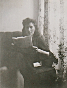 Mom Reading a Letter (Rescued Snapshot)