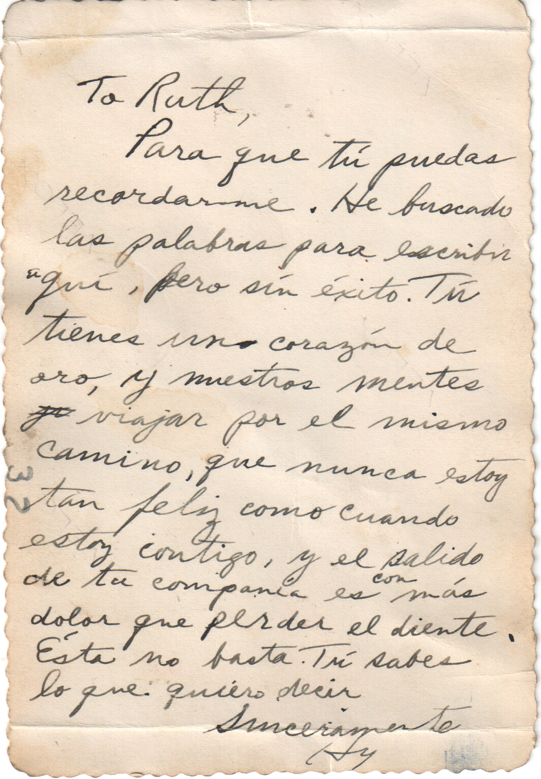 Dad's Spanish Love Letter